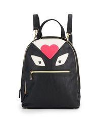 Betsey Johnson - Black Monster Love Backpack - Lyst