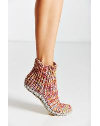 Urban Outfitters | Multicolor Mixed Stitch Knit Slipper Sock | Lyst