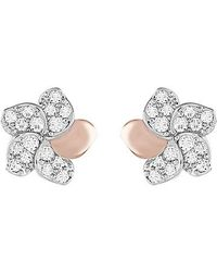 Swarovski | Pink Cute Flower Pierced Earrings | Lyst