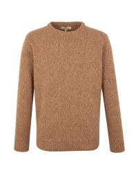 Gibson - Natural Crew Neck Donegal Fleck for Men - Lyst