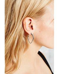 Urban Outfitters | Metallic Large Hook Earrings in Silver | Lyst