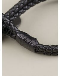 Bottega Veneta - Gray Braided Bracelet - Lyst