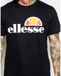 Ellesse | Black Slub T-shirt for Men | Lyst