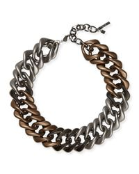 Lafayette 148 New York | Brown Oversized Chain Link Necklace | Lyst