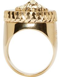 Versus | Metallic Gold Lion Crest Ring | Lyst