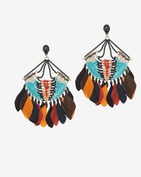 Gas Bijoux | Multicolor Feather Fringe Earrings | Lyst