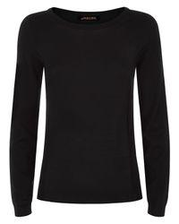 Jaeger - Black Gostwyck Long Sleeved Sweater - Lyst
