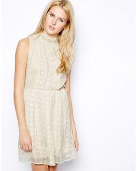 Aryn K. | Natural Pretty Sleeveless Mini Silk Dress | Lyst