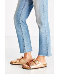 Birkenstock - Arizona Metallic Soft Footbed Sandal - Lyst