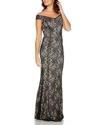 Quiz - Black Lace Bardot Maxi Dress - Lyst
