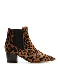 Tabitha Simmons - Multicolor Shadow Pony-Hair Ankle Boots - Lyst
