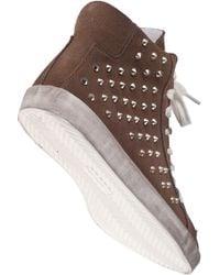Steve Madden - Brown Twynkle Sm Studded Trainer Shoes - Lyst