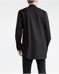 Zara | Black Mao Collar Shirt for Men | Lyst