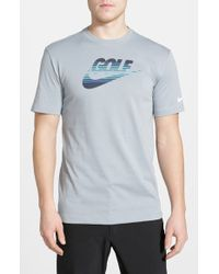 Nike | Gray 'Amplify' Dri-Fit T-Shirt for Men | Lyst