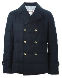 Moncler Gamme Bleu - Blue Double Breasted Padded Jacket for Men - Lyst