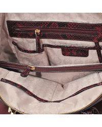 Michael Kors - Purple Riley Burgundy Python Slough Tote Bag - Lyst