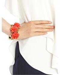 Oscar de la Renta | Red Resin Coral Bracelet | Lyst