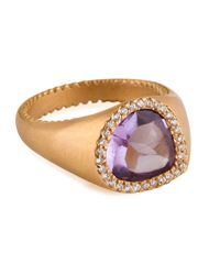 Jamie Wolf - Metallic Bisou Amethyst & Diamond Ring - Lyst