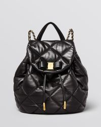Ferragamo | Black Backpack - Giuliette | Lyst