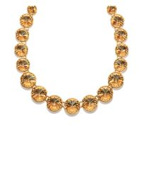 Henri Bendel - Metallic On Point Crystal Collar - Lyst