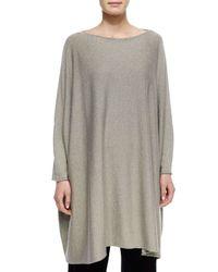 Eskandar - Metallic Cashmere-Blend Shimmer Knit Caftan - Lyst