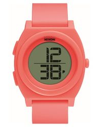 Nixon - Pink 'time Teller' Digital Watch - Lyst