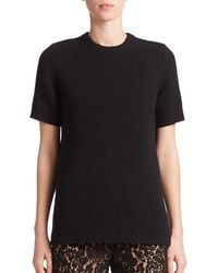Michael Kors - Black Cashmere Sweater Top - Lyst