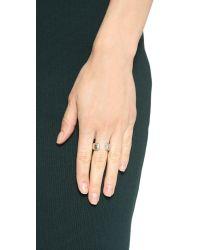Vita Fede | Metallic Obsedia Crystal Ring - Silver/Clear | Lyst