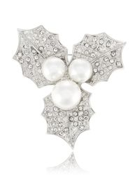 R.j. Graziano - Metallic Faux Pearl Holly Brooch - Lyst