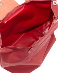Longchamp - Red Le Pliage Neo Large Shoulder Tote Bag - Lyst
