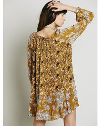 Free People | Brown Lucky Loosey Shapeless Dress | Lyst