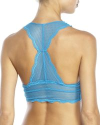 Honeydew Intimates - Blue Scarlette Lace Bralette & Hipster Panty - Lyst