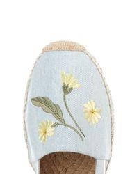 Stella McCartney - Blue Rocio Flower-Embroidered Denim Espadrilles - Lyst
