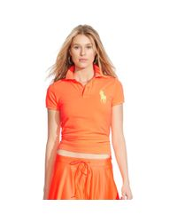 Polo Ralph Lauren | Orange Skinny-fit Big Pony Polo Shirt | Lyst