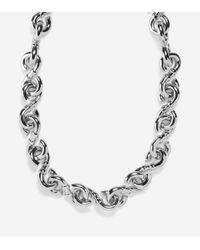 Cole Haan - Metallic Metal Logo Link Necklace - Lyst