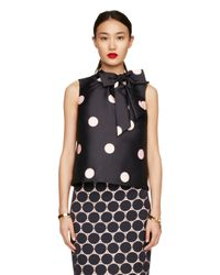 kate spade new york | Blue Spotlight Bow Top | Lyst