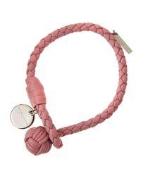 Bottega Veneta - Pink Leather Bracelet - Lyst