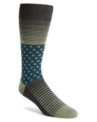 Calibrate | Gray Dot & Stripe Socks for Men | Lyst