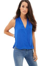 Forever 21 - Blue Contemporary Standout Swiss Dot Top - Lyst