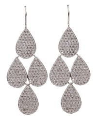 Irene Neuwirth | White Four Drop Diamond Earrings | Lyst