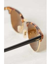 Ray-Ban | Natural Clubmaster Fleck Sunglasses | Lyst