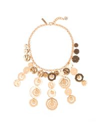 Oscar de la Renta | Metallic Circle Necklace | Lyst