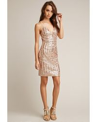 Forever 21 - Pink Tiger Mist Sequined Cami Dress - Lyst
