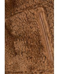 Jil Sander - Sheepskin Jacket With Leather - Brown for Men - Lyst