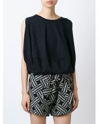 Vivienne Westwood Anglomania | Black Sleeveless Draped Blouse | Lyst