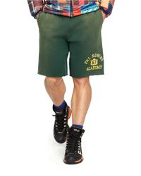 Polo Ralph Lauren | Green Fleece Drawstring Shorts for Men | Lyst