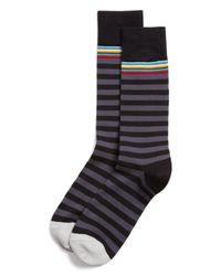 Paul Smith - Black Multitop Stripe Socks for Men - Lyst