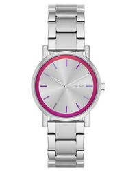 DKNY - Metallic Ladies Soho Holographic Bracelet Watch - Lyst