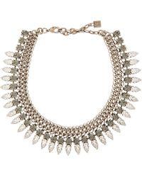 DANNIJO | Metallic Silver & Crystal Handmade Whistler Choker | Lyst