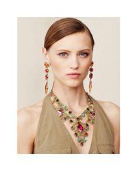 Ralph Lauren | Multicolor Topaz Clip Earrings | Lyst